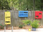finally got my pallet planters hung!!  Yea!!!