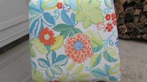 LOVE the outdoor fabric I found to recover the cushions.
